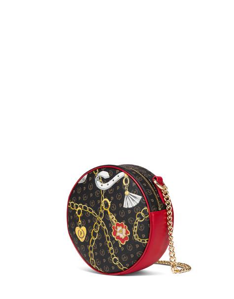 Round bag Heritage Preppy Club NERO/ROSSO