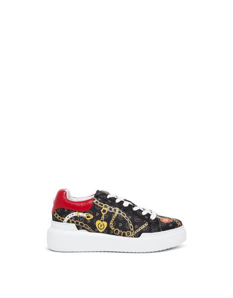 Sneakers Heritage Preppy Club NERO/ROSSO
