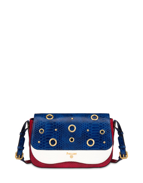 Marina oulder bag with python print BLUE/RED/WHITE
