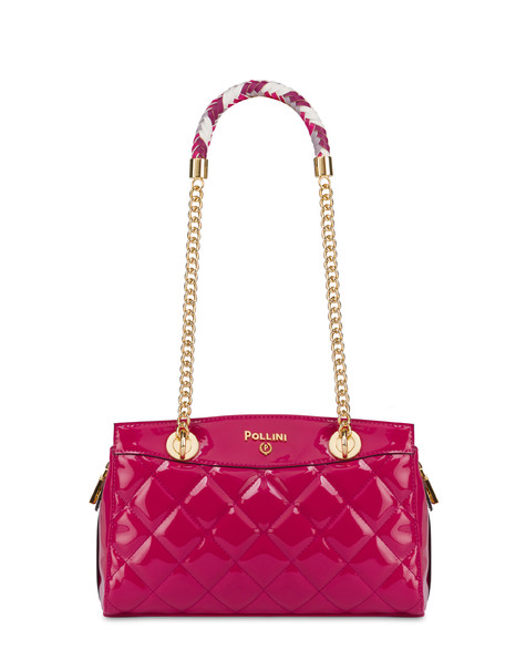 Clio matelassé double handle bag FUCHSIA