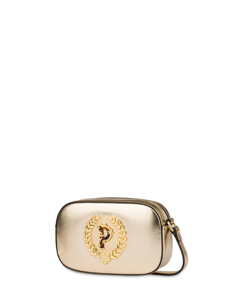 Evening laminated shoulder bag GOLD