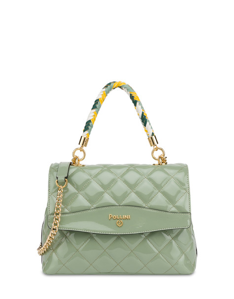Clio matelassé top handle bag MINT