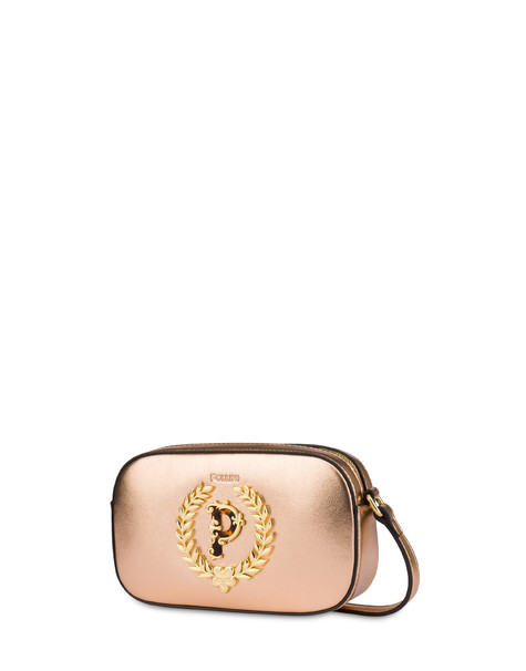 Evening laminated shoulder bag COPPER