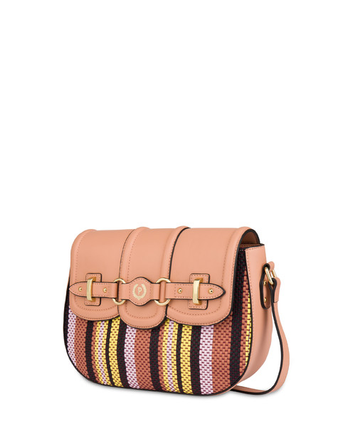 Jackie O' striped shoulder bag NUDE/PINK