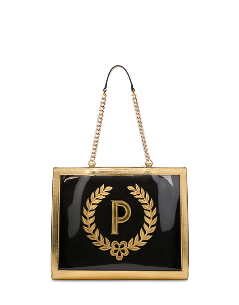 Sun On The Beach shopping bag in SMOKE/BLACK/GOLD
