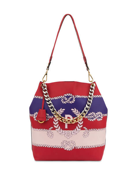 Darlene obo bag with majolica print RED