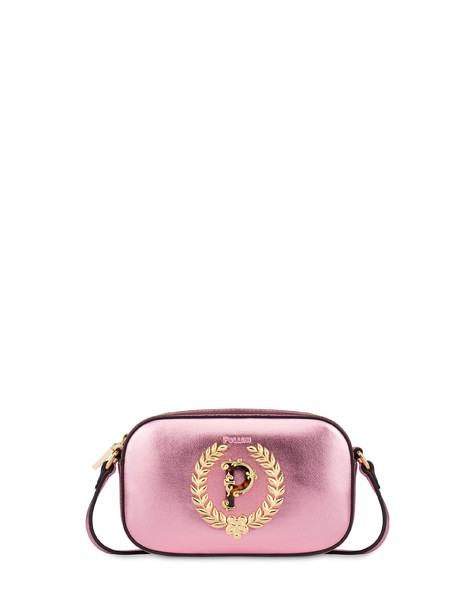 Evening laminated shoulder bag PINK