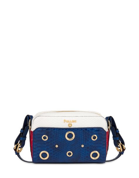 Marina houlder bag with python print BLUE/RED/WHITE