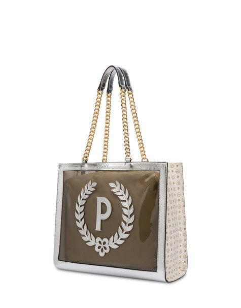 Sun On The Beach shopping bag in SMOKE/IVORY/SILVER