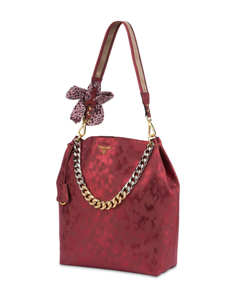 Darlene Chic laminated suede hobo bag BORDEAUX
