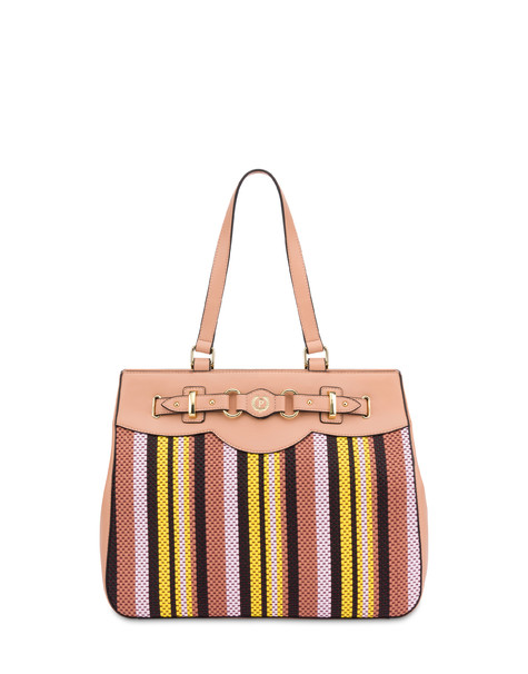 Jackie O' striped shopping bag NUDE/PINK