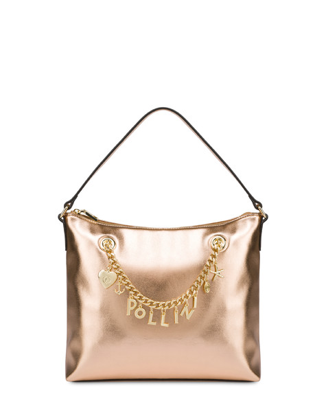 Sea Charms laminated hobo bag COPPER