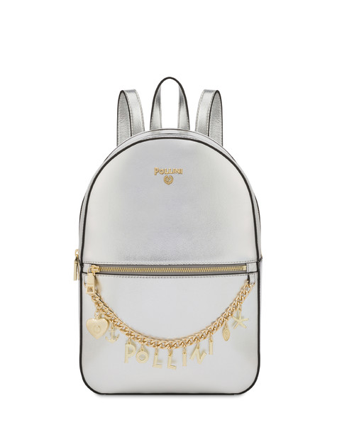 Sea Charms laminated backpack SILVER