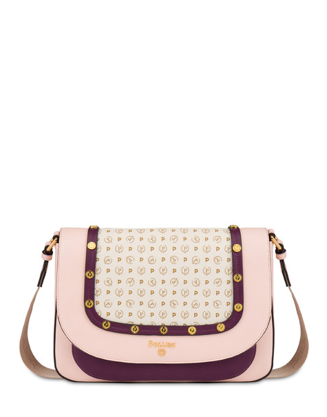 Margarita messenger bag with studs NUDE/BORDEAUX/IVORY