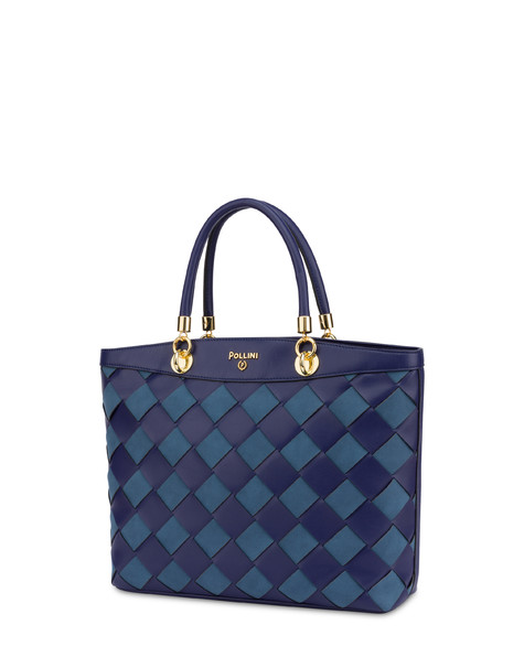 Clio Weaving tote bag NAVY/NAVY/BLUE
