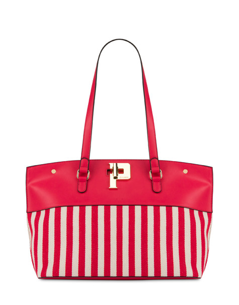 Capitol Peak striped shopping bag RED/ECRU/RED