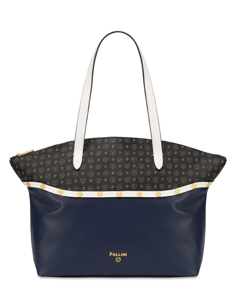 Margarita shopping bag with studs BLUE-WHITE/BLACK