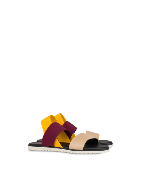Soft Walk elastic flat sandals SAND