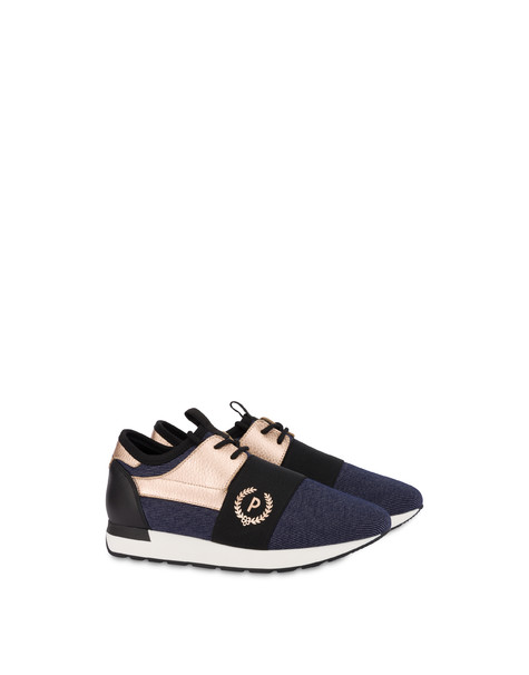 Elastic Run denim slip-on sneakers MEDITERRANEAN/QUARTZ/BLACK