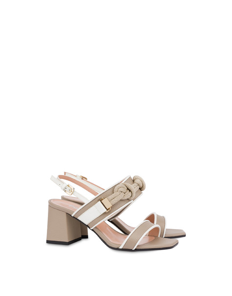 Marina moose print leather sandals SAND/WHITE