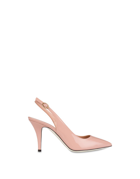 Annabelle patent leather slingback QUARTZ