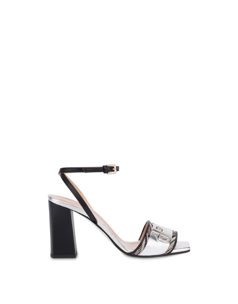 Twin P laminated sandals BLACK/SILVER/BLACK