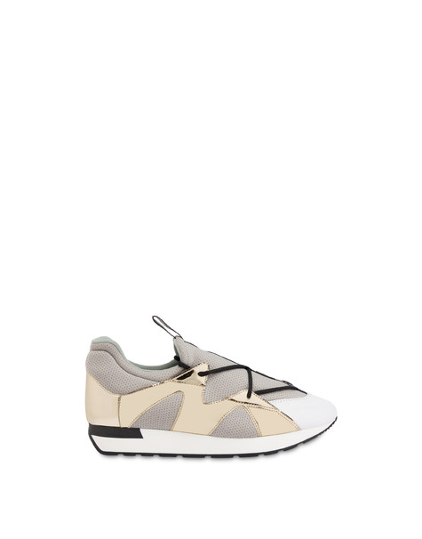 Onda slip-on sneakers in mesh and mirror WHITE/PLATINUM/GREY