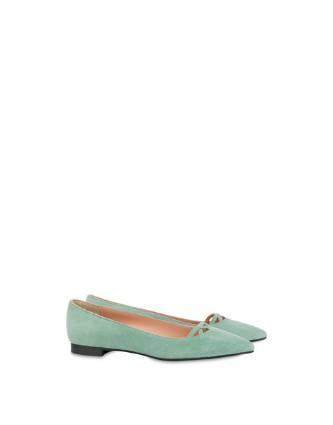 Love In Venice suede ballet flats MINT