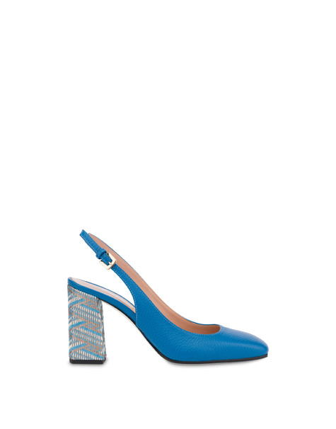 Slingback in pelle stampa alce Palmes AZULEJOS/AZULEJOS