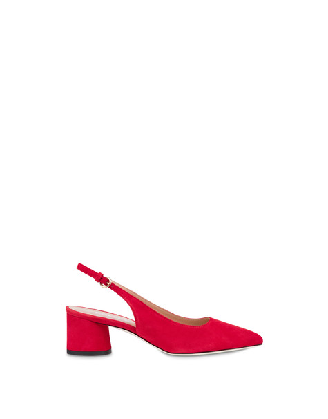 Corinto suede slingback LAKY RED