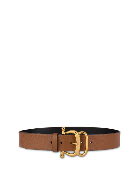 Pollini Buckle tumbled calfskin belt HIDE