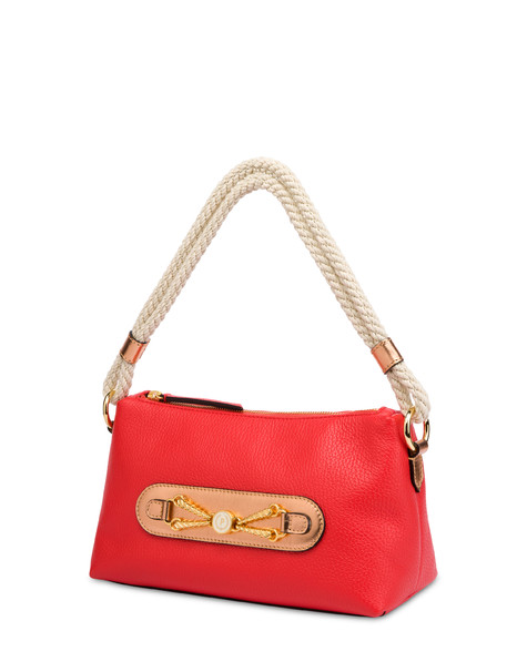 Petra calfskin bag CORAL/COPPER