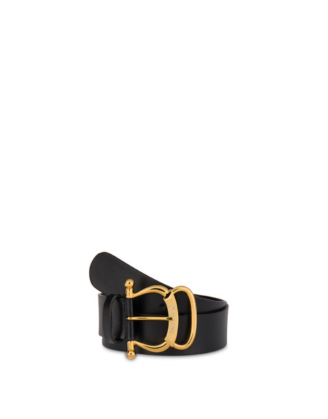 Pollini Buckle calfskin belt BLACK