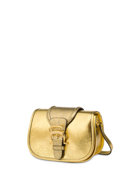 Cabiria Buckle laminated shoulder bag GOLD/GOLD