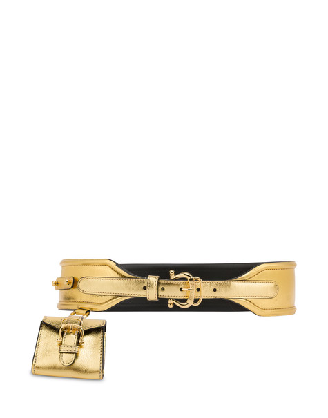 Laminated calfskin belt GOLD