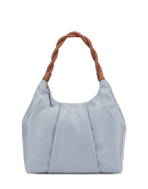 Aura hobo bag in calfskin LIGHT BLUE/HIDE
