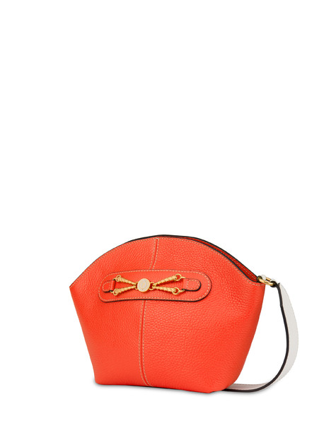 Aris shoulder bag in calfskin CORAL/BEIGE