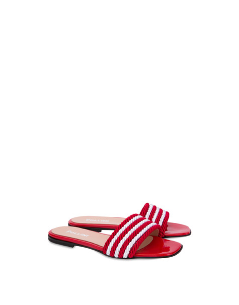 Rope On Rope flat sandals LAKY RED-WHITE