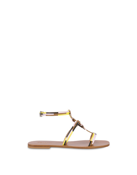 Between The Lines flat sandals HIDE-SUN-BLACK-QUARTZ