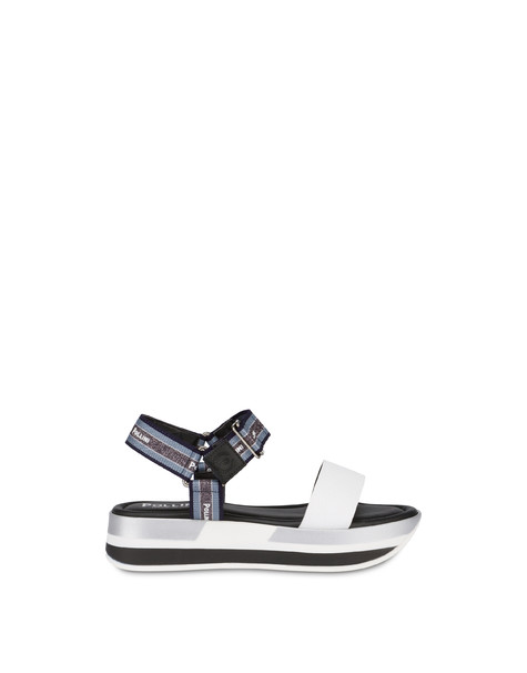 Trek By The Sea calfskin sandals WHITE