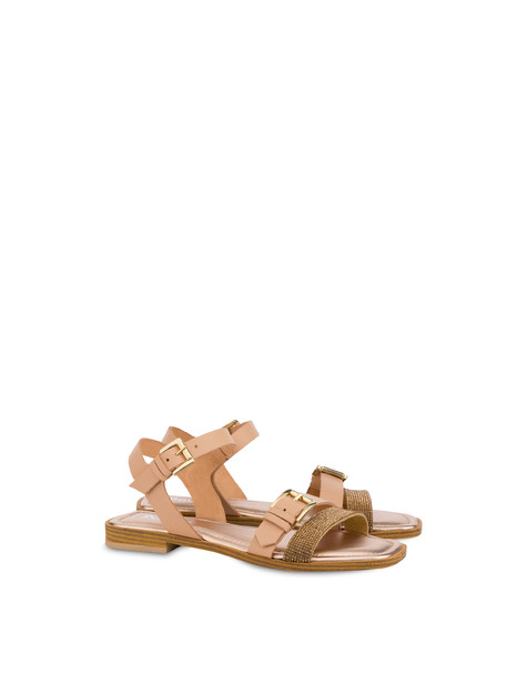 Islands cowhide sandals QUARTZ