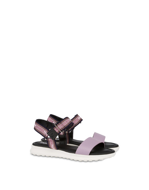 Trek By The Sea calfskin flat sandals LAVENDER