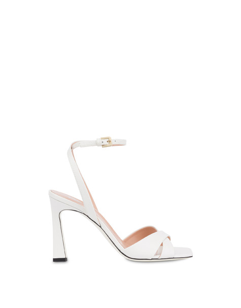 Cote D'Azur high sandals in calfskin WHITE