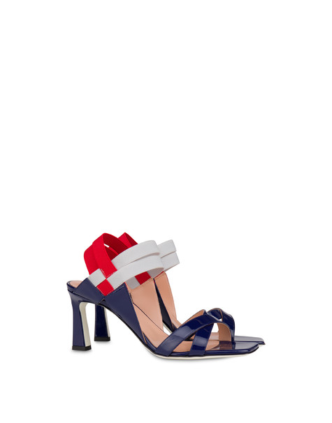 Greek Cross high patent leather sandals MEDITERRANEAN