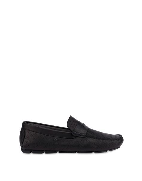 Naxos Garden calfskin loafers BLACK