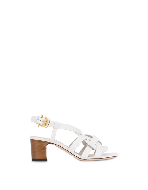 Greek Arco Wave cowhide sandals WHITE