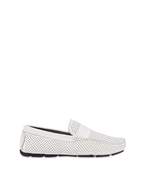 Naxos Garden calfskin loafers WHITE