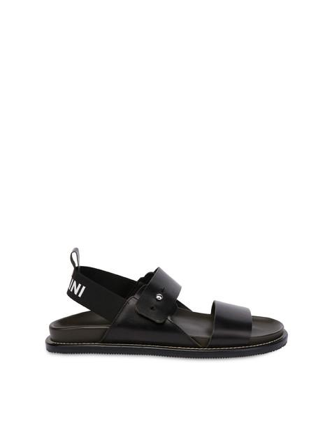 Soft Walk cowhide sandals BLACK