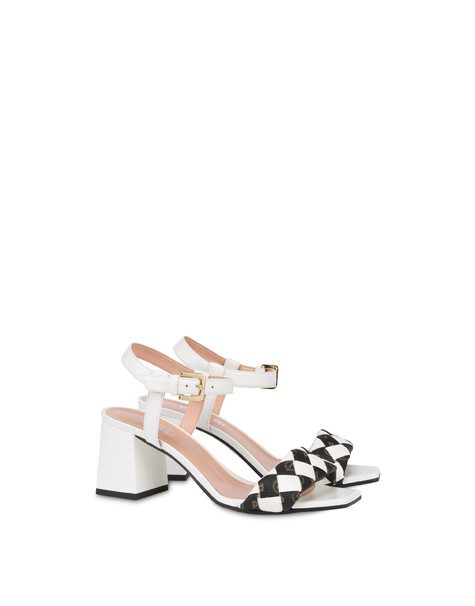 The Queen Of Chess sandals with Heritage inserts WHITE/BLACK