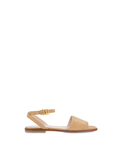 Flat suede sandals SAND